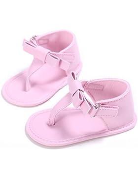 Vovotrade Primer paso Chanclas Niñito Bebé Niña Cuna Zapatos Recién nacido Flor Suela blanda Antideslizante Zapatillas...