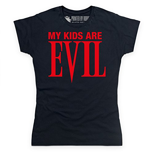My Kids Are Evil T-Shirt, Damen Schwarz