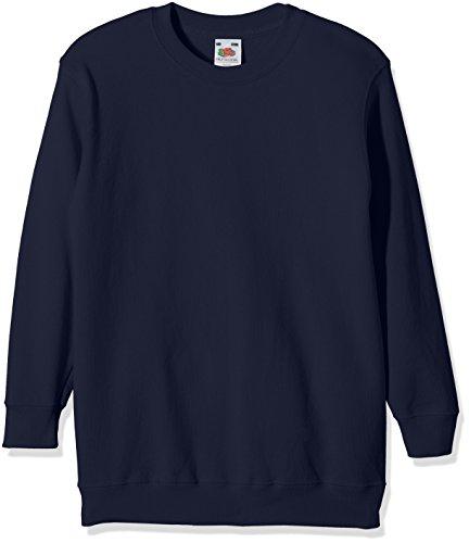 Fruit of the Loom Jungen Regular Fit Sweatshirt, Blau (Navy 32), Gr. 128 CM (Herstellergröße: 7/8 Jahre ) -