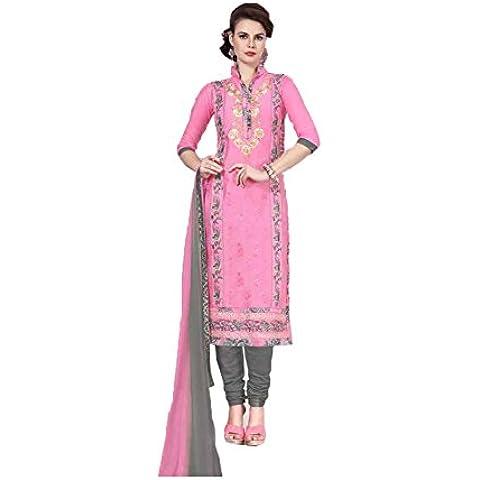 DaFacioun Indian Women Designer Party wear Pink Salwar Kameez R-12944