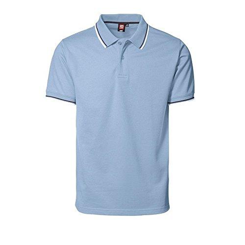 ID Identity uomo Piqué Polo con contrasto strisce 0564 blu navy