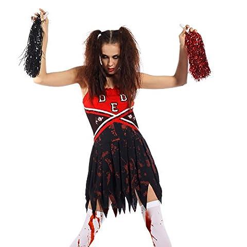 Zombie Halloween Costumes Filles - maboobie L 38 40 Deguisement Pom-pom girl