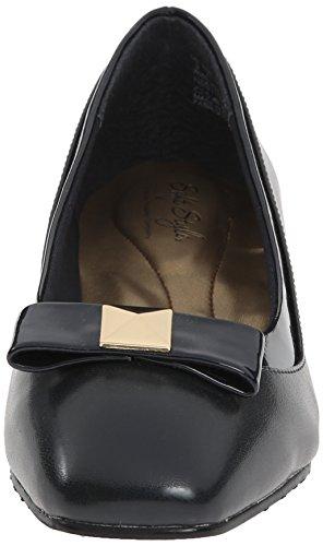 Stile Soft di Hush Puppies pompa Santel Dress Navy Elegance Polyurethane/Patent Polyurethane