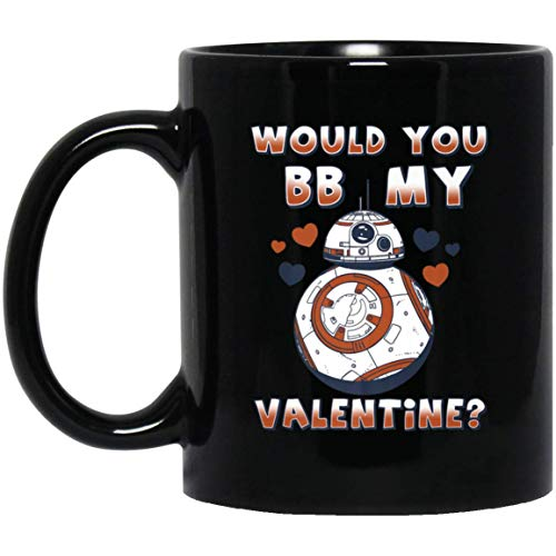 Star Wars Valentine's Day Would You BB Mine Premium 11 oz. Black Mug (Star Wars Valentines Day Shirt)