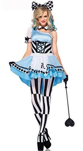 LLY Blaue Mädchenkleid Cosplay Halloween Party-Kleidung, Blue (Blue Krankenschwestern Kostüm)
