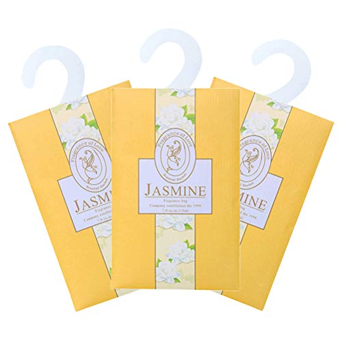 Lavendel-duftende Schublade (LIOOBO 6er Duftsäckchen Tasche für Schubladen Schränke und Autos Duftsäcke - Jasmin)