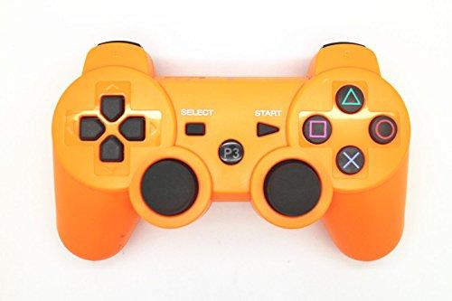 PS3 Gamepad Bluetooth Controller für PS3, kabelloses Gamepad Remote Joystick mit Dualshock Bluetooth-Verbindung für Playstation 3 Long:103cm; Wide:14cm orange