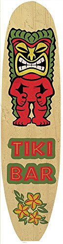 Tiki-Bar-Surf-Board-Cartel-de-Chapa-Placa-metal-Estable-plano-Nuevo-11x46cm-VS4710-1