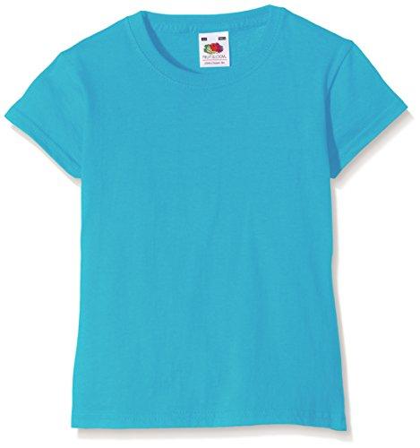 Fruit of the Loom SS079B, Camiseta Para Niños, Azul (Azure Blue), 9/11 Años (Talla Fabricante: 32)
