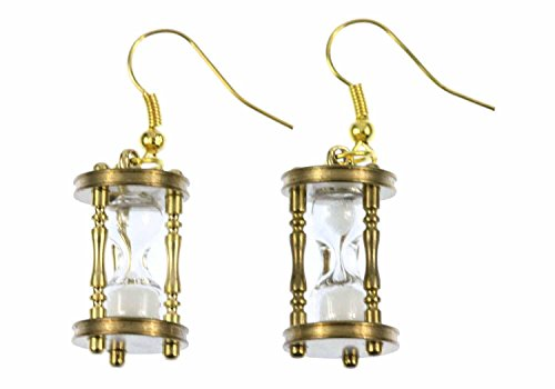 orecchini d'oro clessidra rimorchio FUNZIONALE Miniblings uovo orologi timer pm