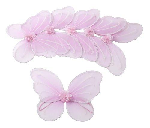 6 Stück Pinke Flügel für Fee oder Schmetterling Kostüm Party-Paket Mottoparty für Mädchen: Klein- und Schulkinder (Schmetterling Kostüm Uk)