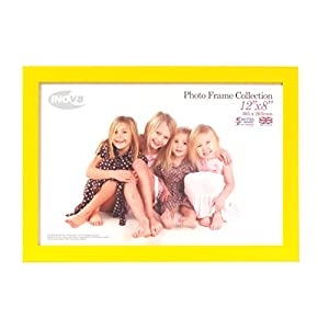 Inov8 British Made Traditional Picture/Photo Frame, Canary Yellow, 12x8 Inch