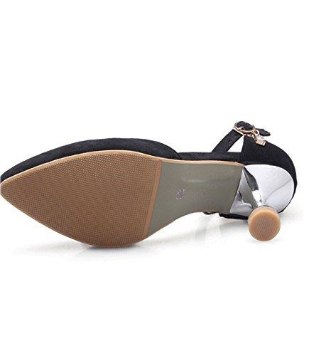 Baotou Chaussures Creuses Black