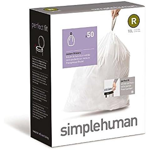 simplehuman H–Bolsas de basura (50), código R, 10L, cw0245