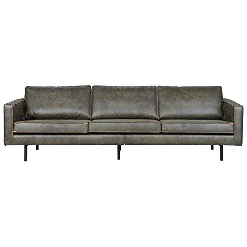 3 Sitzer Sofa RODEO Echtleder Leder Lounge Couch Garnitur Ledersofa armygrün