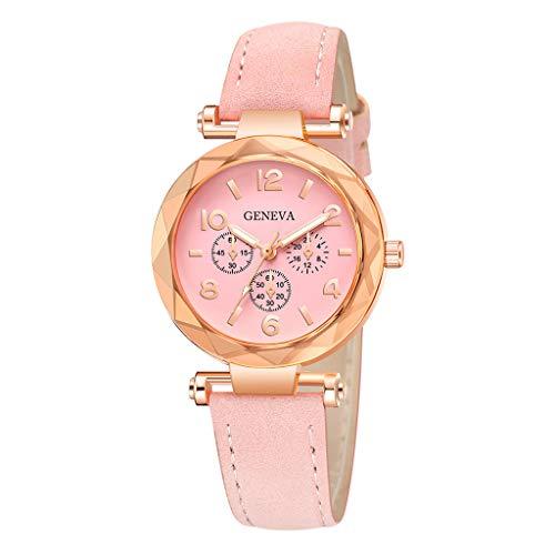 Dorical Armbanduhr für Damen Analog Quarz mit Kunstlederband,Damenuhr, Oktoberfest Vintage Muster Analog Quarzuhr Retro Uhr Ausverkauf(H)