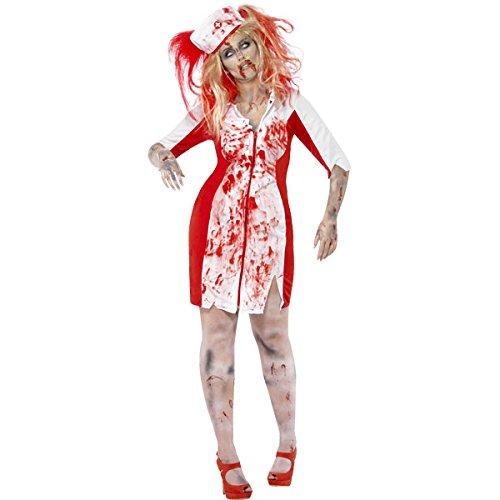 Neue Damen Halloween Fancy Dress Damen Kostüm Kurven Zombie Nurse Plus Größe