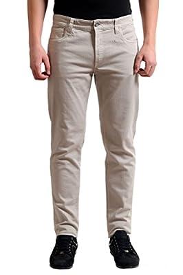 Dolce & Gabbana Light Gray Men's Stretch Denim Slim Fit Jeans