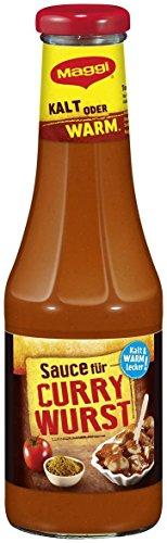 Maggi Internationale Würzsauce Sauce für Currywurst mit Chili, 500 ml Flasche