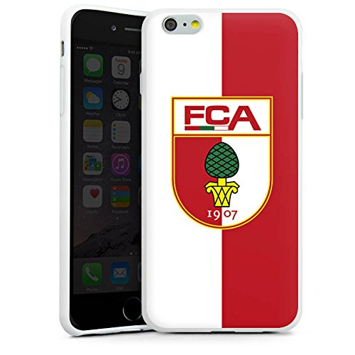 Apple iPhone X Silikon Hülle Case Schutzhülle FC Augsburg Fanartikel Fussball Silikon Case weiß