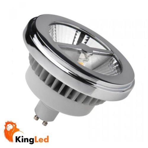 KingLed - Lampada LED Modello AR111 con Attacco GU10, da 15W 1250 Lumen Equivalenti a 100W a Incandescenza, Colorazione di Temperatura Bianco caldo 3000K, Chip Led Bridgelux, Angolo di Illuminazione 30°, Diametro della Lampadina 110 mm, cod. 1345