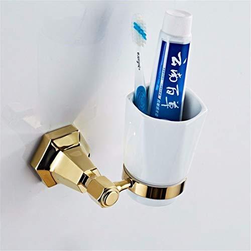 Bathroom Accessories Badaccessoires Sets Europäischer Typ voll Kupfer Gold Wand hängen Aufhänger Bad Jacke Bad Handtuchhalter, einzelne Schale 2564 Bluetooth
