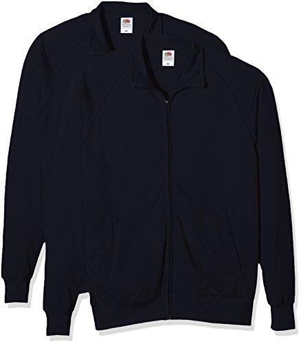 Fruit of the Loom Lightweight Sweat Jacket, Felpa Uomo Blu (Dark Navy)