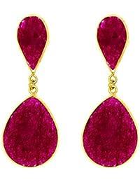 Córdoba Jewels | Pendientes en plata de Ley 925. Diseño Ideal Rubí