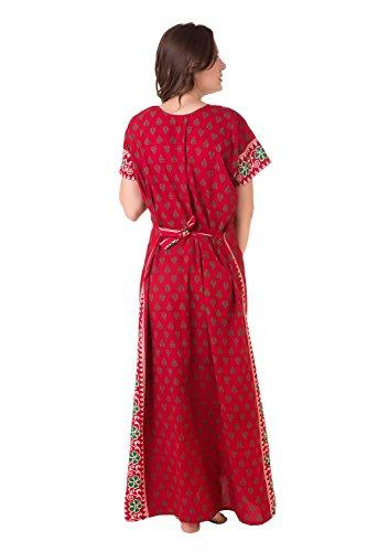 Masha Women Cotton Dressing Gowns & Kimonos (Nt50-172 _Red _Free Size)