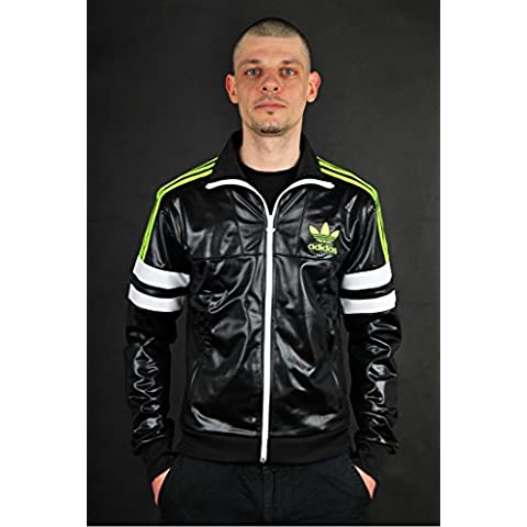 adidas Originals M Chile 62 TT2 Slim Jacket Chaqueta Negro G90074, Size:XS