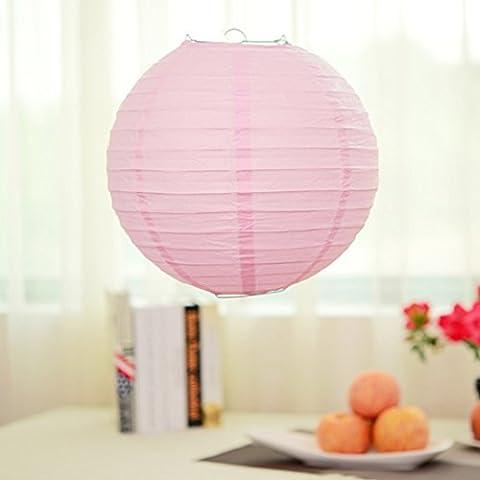Lugii Cube Décoration de fête de mariage chinois/japonais Home lanternes en papier rondes lampe Nuances, bleu roi