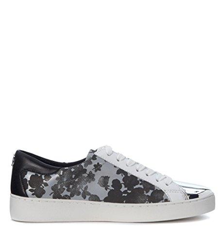 Damen Schuhe Sneakers MICHAEL KORS Frankie Leather Optic White Gold Mirror New Schwarz