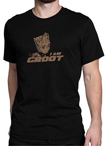 Guardians of the Galaxy Baby I AM GROOT Film Vol. 2 / Premium Fun Motiv T-Shirt XS-5XL mit Aufdruck / Ideales Geschenk, Color:Black (Color), Size:5XL
