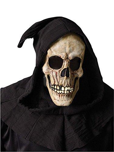 shoperama Totenkopf Maske mit Kaputze, ()