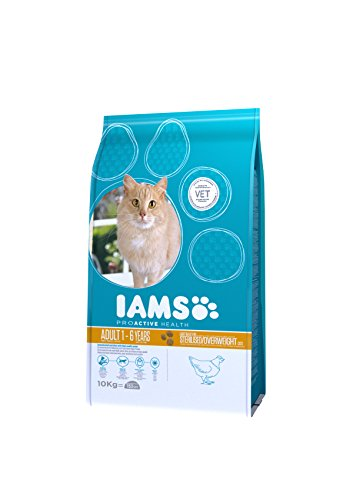 IAMS for Vitality Light in Fat Dry Cat Food with Fresh Chicken for Adult and Senior Cats, 10 kg 4