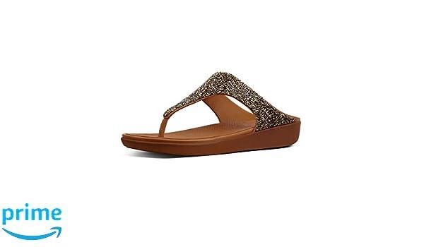 3cbaa0560e70d3 Fitflop Banda II Quartz Ladies Toe Post Sandals Gold  Amazon.co.uk  Shoes    Bags