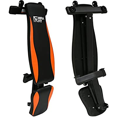 MiraFit Fully Adjustable Folding Gym Weight Bench - Orange/Black from MiraFit