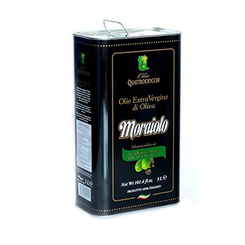 Olio extra vergine di oliva superbo 100% moraiolo biologico quattrociocchi (3 lt)