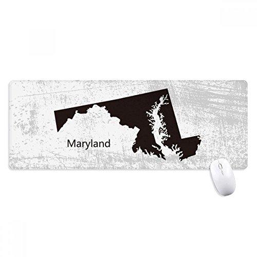 beatChong Maryland Vereinigte Staaten von Amerika Karte Silhouette Griffige Mousepad Große Erweiterte Spiel Büro titched Kanten Computer-Mat Geschenk