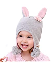 Gifts Treat Bambini Cappello Beanie Lavorato a Maglia Ragazze e Ragazzi  Inverno Cappello Caldo con Paraorecchie c3000befe71d