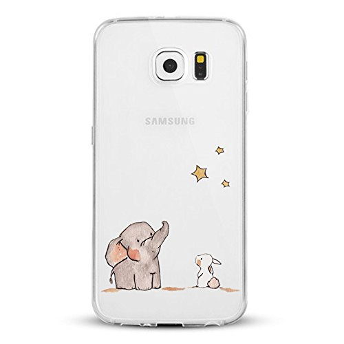Caler Funda Galaxy S6, Carcasa Samsung Galaxy S6 Impresión TPU Funda Cubierta...