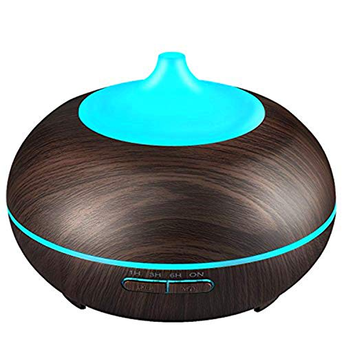 Tian Ran Dai Madera Grano Humidificador de aire 300 ml Oficina en casa Aromaterapia con temporizador...