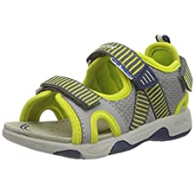 Geox Baby Boys' B Sandal Multy B Open Toe, Grey (Grey/Lime Green C1172), 5 UK