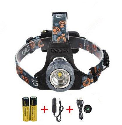 Preisvergleich Produktbild M&T TECH 5000 Lumens 3 CREE XML T6 LED Kopfleuchte Headlight 4 Modes Waterdicht Blitzlicht zum Campen Angeln Fahradfahren Joggen, wideraufladbar Akku mit USB KFZ-Ladekabel