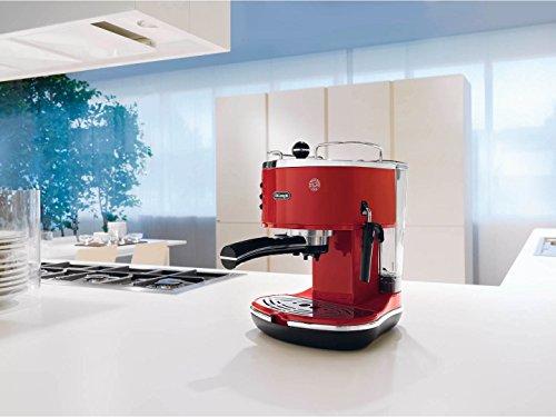 De'Longhi ECO 311.R Icona Vintage Kaffeemaschine, rot