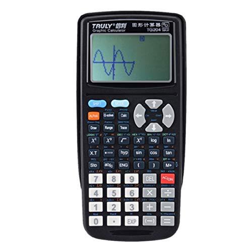 TG204 Portable Größe Schüler Graphics Calculator Scientific Graphing Rechner Für Grafik Lehre Schwarz