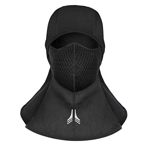 Betuy Balaclava Skimaske, Windschutz Ski Gesichtsmaske Halstuch Motorradmaske Sturmmaske mit Thermischer Retention für Bike Motorrad Ski Snowboard Wandern (ohne Reißverschluss)