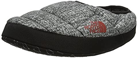 The North Face Nse Tent Mule Iii, Chaussons Homme, Gris (Phantom Grey Heather Print/Ketchup Red), 40.5-42.5 EU (Taille fabricant: M)