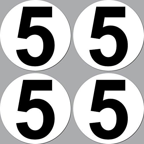 4-Stck-Aufkleber-Sticker-Nummer-5-Startnummer-10cm-Auto-Motorrad-Kart-Gokart-Roller-Racing-Bike-Cross