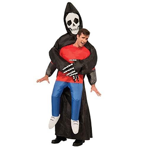 Original Cup - Disfraz Hinchable con Bomba de Aire USB, Traje Inflable Adultos para Fiesta, Conciertos, Halloween - Segador de la Muerte, Death The Reaper
